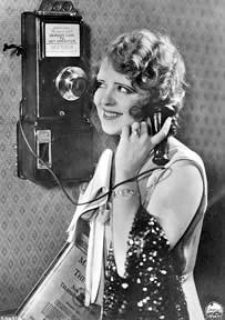 Clara Bow on the telephone