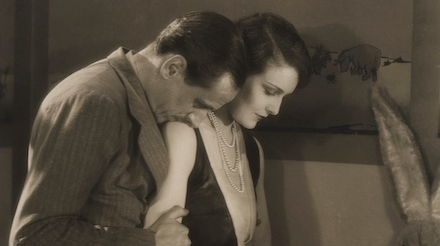 Miles Mander and Madeleine Carroll in The First Born (1928)