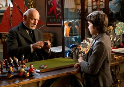 Asa Butterfield and Ben Kingsley in Hugo (2011)