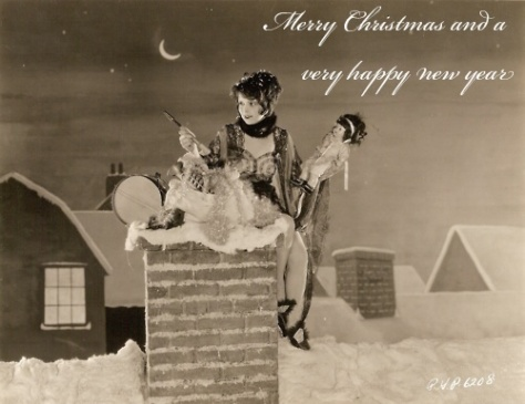 A festive picture of Clara Bow