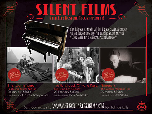 Silent films at the Prince Charles Cinema