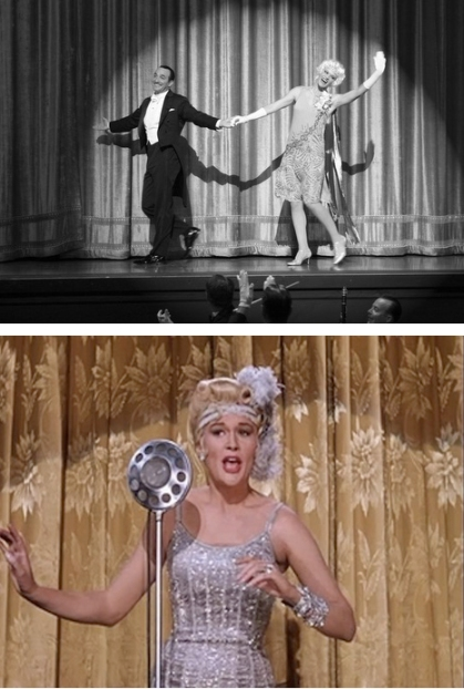 The Artist (top) and Lina Lamont in Singin' in the Rain (1952)