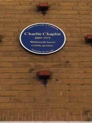 Charlie Chaplin's blue plaque