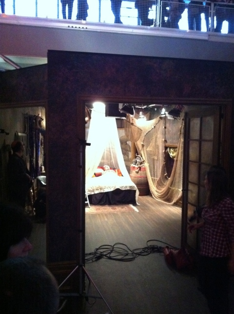 The set of Guy Maddin's Poto-Poto séance, Paris 25/2/12
