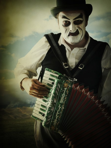 Martyn Jacques and his accordion