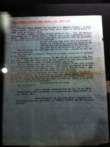 A typed manuscript of Chaplin's 1943 radio address