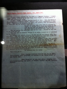 A typed manuscript of Chaplin's 1943 radio address
