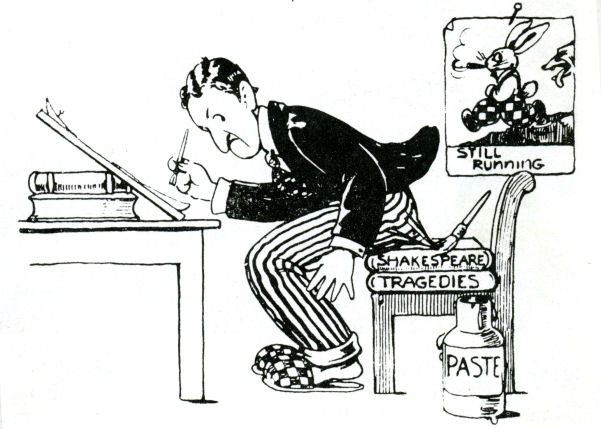 This caricature of Anson Dyer is probably a self-portrait (Source: ukanimation.blogspot.com)