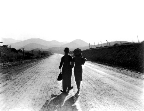 Charlie Chaplin and Paulette Goddard in Modern Times