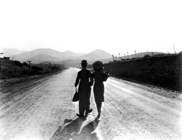 Charlie Chaplin and Paulette Goddard in Modern Times