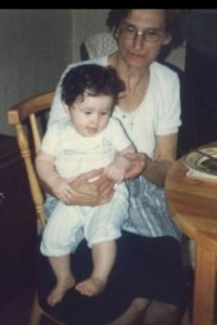 Ayse with her grandmother