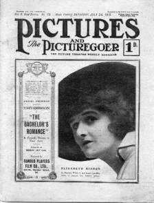 Elisabeth Risdon on the cover of The Picturegoer July 1915