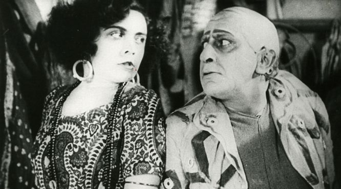 Pola Negri and Ernst Lubitsch in Sumurun