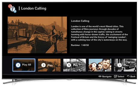 BFI's Samsung Smart TV app