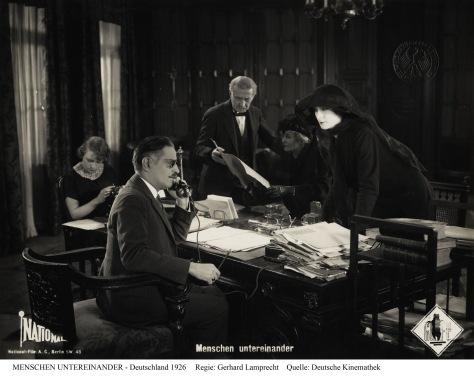 Menschen Untereinander (People Among Each Other, 1926) Deutsche Kinemathek, Berlin