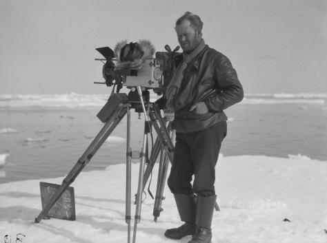 Axel Lindblom on location in the Arctic Ocean during the filming of Den starkaste (1929). Svenska Filminstitutet, Stockholm ©1929 AB Svensk Filmindustri. All rights reserved.