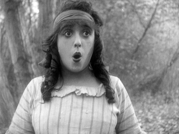Mabel Normand in Won in a Cupboard (1914) National Film Preservation Foundation