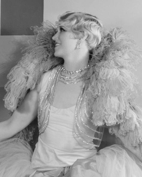 Peggy Hamilton Adams wears a gown by Adrian in 1929