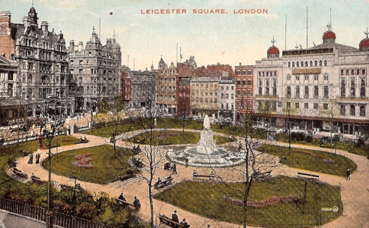 Leicester Square in 1903 (from London Filmland)