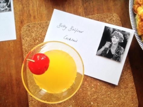 A Betty Balfour cocktail. Photograph: Jenny Hammerton