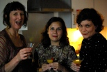 Jenny, Nathalie and Caroline raise a glass to Betty Balfour