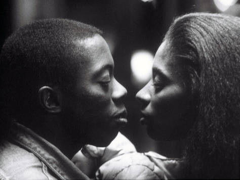 Sidewalk Stories (1989): Charles Lane as the Artist and Sandye Wilson as the Young Woman. Photographer: Bill Dill