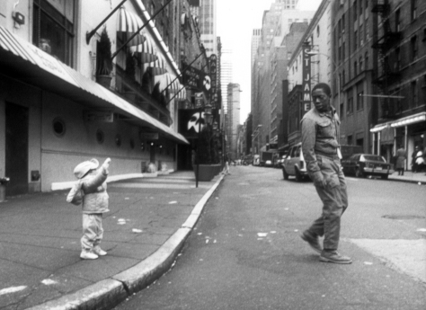 Sidewalk Stories (1989): Charles and Nicola Lane as the Artist and the Child. Photographer: Bill Dill