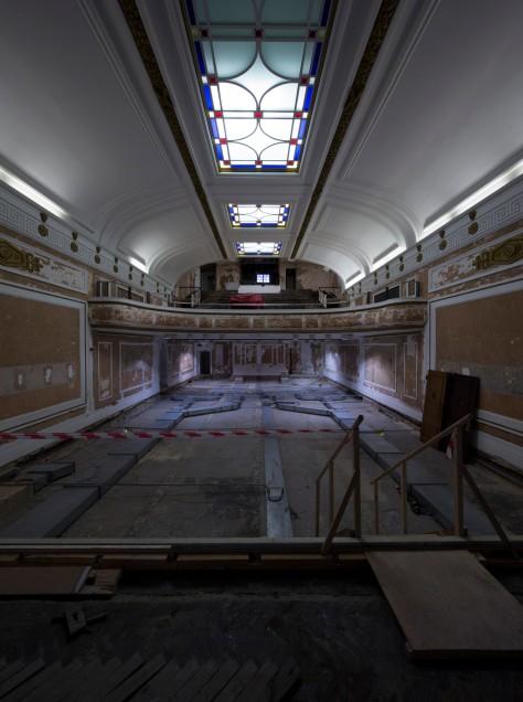 The cinema interior - mid-restoration (flickr.com/regentstcinema)