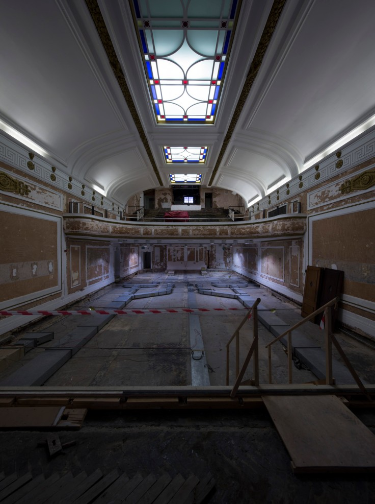 The cinema interior - mid-restoration (flickr.com/regentstcinema)