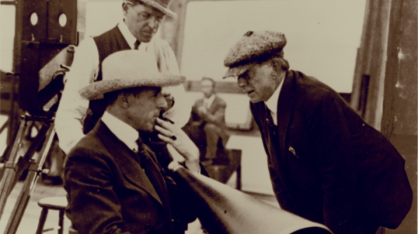 DW Griffith on set