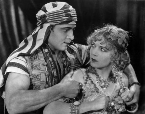 Rudolph Valentino and Vilma Banky in The Son of the Sheik