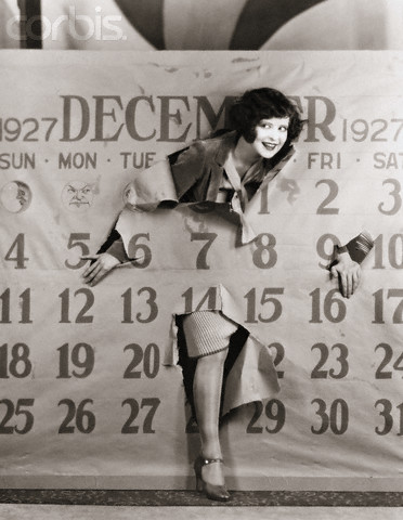 Clara Bow Stepping Through Calendar