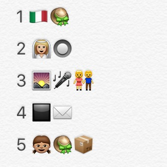Emoji silent film quiz, part one