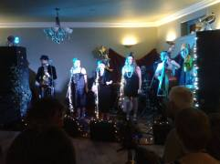 A fabulous show from the Bevvy Sisters at the Hippfest Speakeasy. Photograph: Sheldon Hall