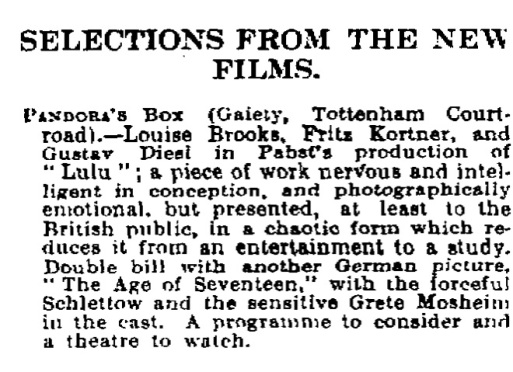 C. A. Lejeune, 'The poor man's holiday', The Observer, 24 August 1930, p. 6