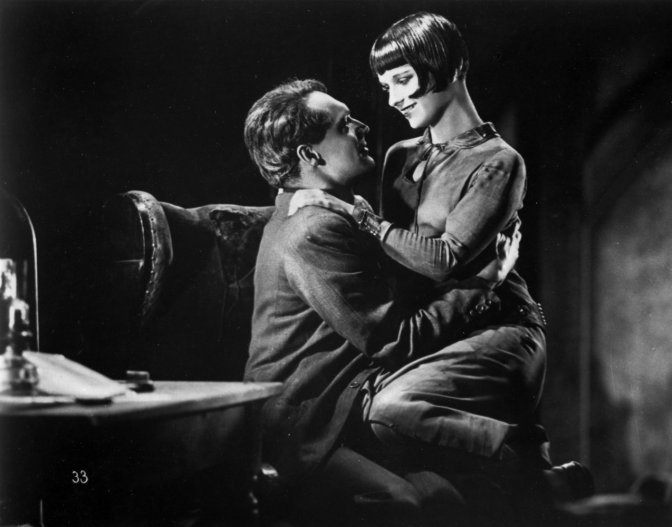 Lulu (Louise Brooks) and Jack (Gustav Diessl) in Pandora's Box (1929)