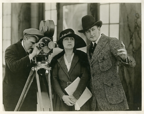 Dorothy Phillips and Allen Holubar on the set of The Right to Happiness (1919) Credit: The Museum of Modern Art, New York