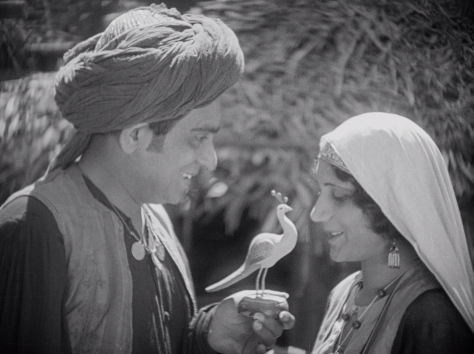 Himansu Rai (Shiraz) and Enakshi Rama Rau (Selima, later Mumtaz Mahal) in Shiraz: A Romance of India (1928, BFI National Archive)