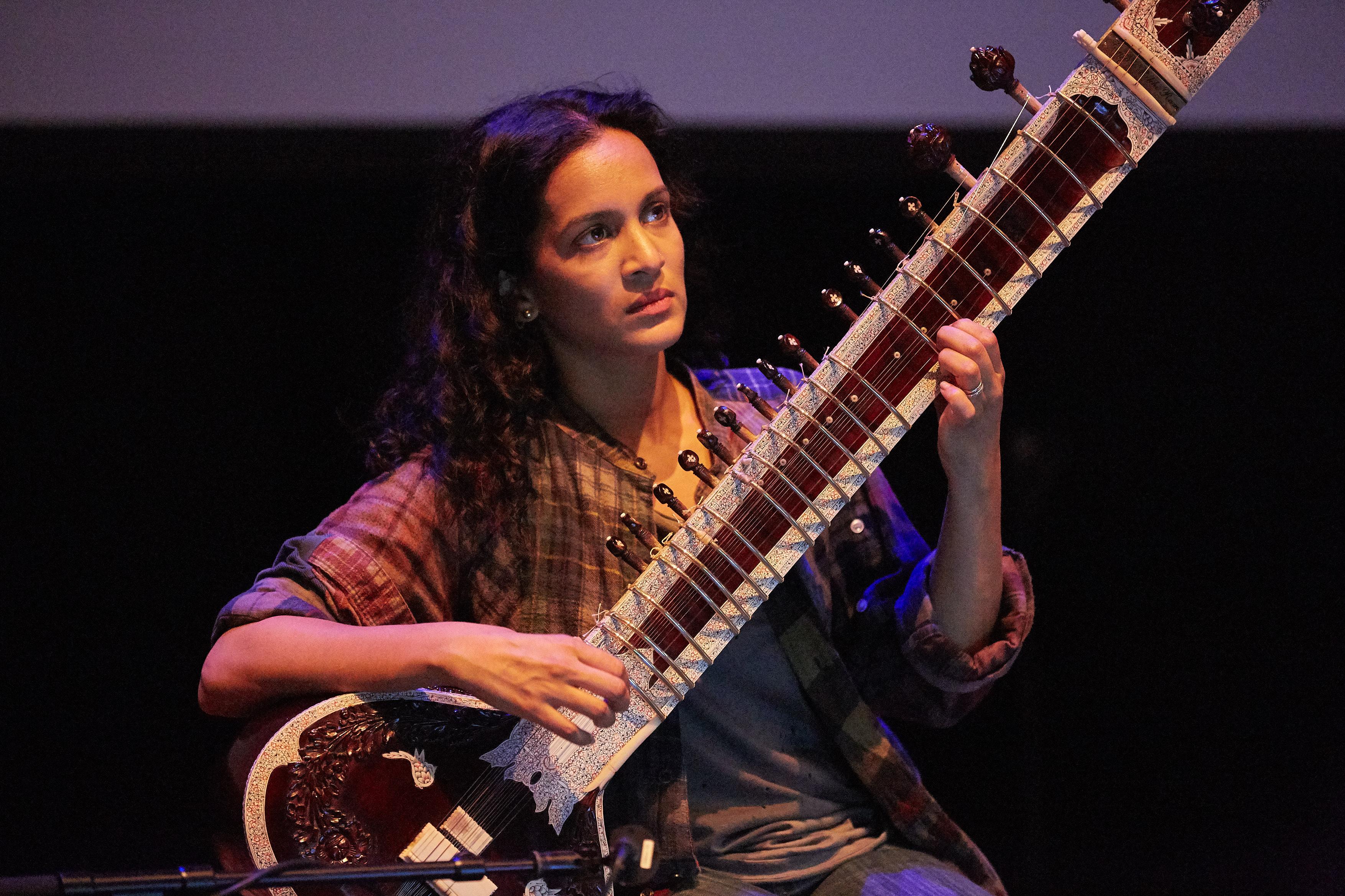 Anoushka Shankar accompanies Shiraz: A Romance of India at the BFI London Film Festival Archive Gala. Credit: Darren Brade Photography