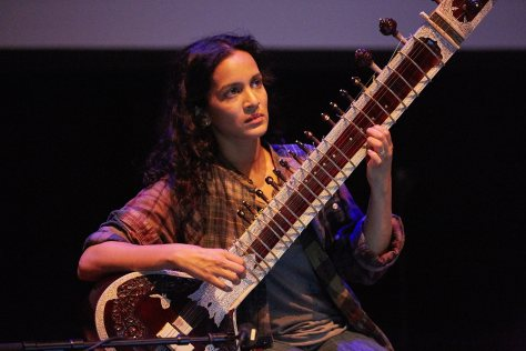 Anoushka Shankar accompanies Shiraz: A Romance of India at the BFI London Film Festival Archive Gala. Credit: Darren Brade Photography