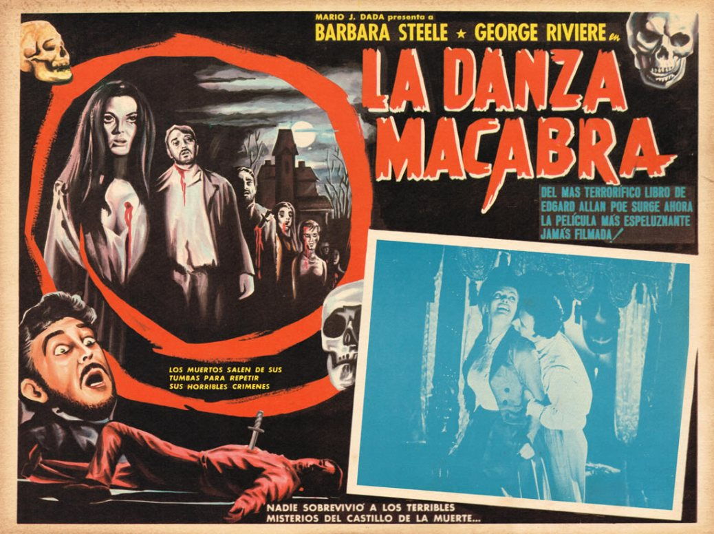 La Danza Macabra/Castle of Blood Italian poster