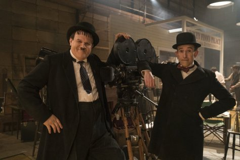 John C Reilly and Steve Coogan as Oliver Hardy and Stan Laurel in Stan & Ollie (2018)