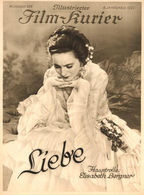 LIEBE (DE 1927) di Paul Czinner Credits: Collezione Jay Weissberg