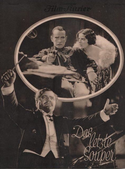 DAS LETZE SOUPER (Théâtre) (The Last Performance, DE 1928) by Mario Bonnard Credits: Marcello Seregni Collection