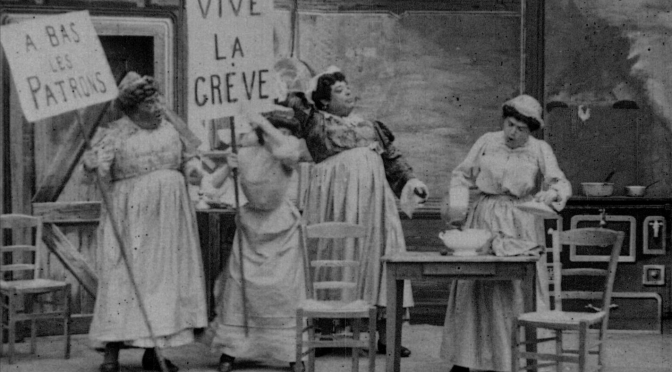 LA GRÈVE DES BONNES (FR 1906) by Charles-Lucien Lépine Credits: Restoration CNC